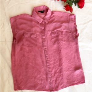 Forever 21 Tops - Forever 21 Sleeveless Button Down Chiffon Shirt